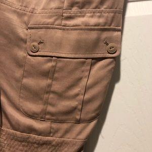 Bebe cargo silk pants